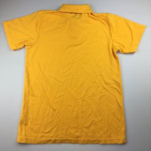 Unisex Emerson, short sleeve school polo shirt / top, yellow, GUC, size 14