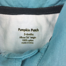 Load image into Gallery viewer, Boys Pumpkin Patch, 100% cotton short sleeve polo shirt, surf, EUC, size 00