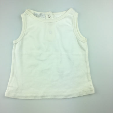 Girls Alouette, white summer sleeveless t-shirt / top, GUC, size 3