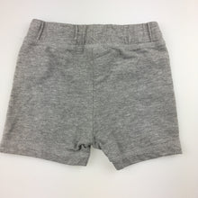 Load image into Gallery viewer, Boys Fagottino, grey cotton blend shorts, elasticated waist. 6-9 months, GUC, size 00