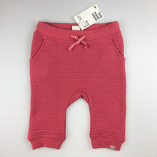 Load image into Gallery viewer, Girls H&M, pink track / sweat pants, elasticated waist, NEW, size 00