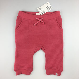 Girls H&M, pink track / sweat pants, elasticated waist, NEW, size 00