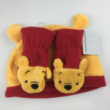 Load image into Gallery viewer, Unisex Disney Baby, Winnie the Pooh fleece hat and mits set (3 - 9 months), NEW, size 00