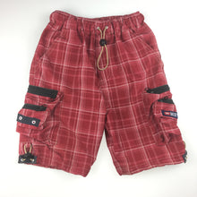 Load image into Gallery viewer, Boys Diesel, red lightweight cargo shorts, elasticated waist, GUC, size 4