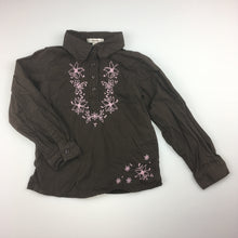 Load image into Gallery viewer, Girls Old Navy, 100% cotton shirt / blouse, embroidery, GUC, size 3