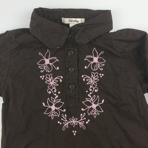 Girls Old Navy, 100% cotton shirt / blouse, embroidery, GUC, size 3