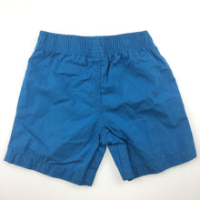 Load image into Gallery viewer, Boys Tiny Little Wonders, blue cotton shorts, elasticated waist, NEW, size 00