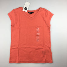 Load image into Gallery viewer, Girls Gap Kids, 100% cotton coral t-shirt / top, NEW, size 6-7