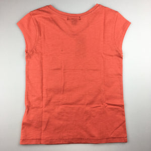 Girls Gap Kids, 100% cotton coral t-shirt / top, NEW, size 6-7