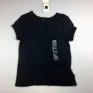 Girls Gap Kids, navy short sleeve t-shirt / top, cotton / modal, NEW, size 4-5