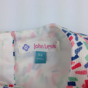 Girls John Lewis, lined summer / party dress, GUC, size 00