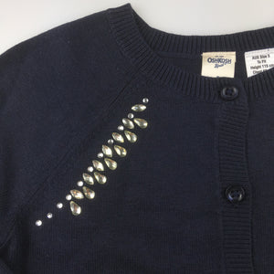Girls Osh Kosh, embellished cardigan, NEW, size 5