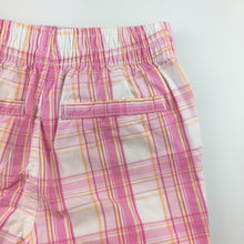 Load image into Gallery viewer, Girls Carter's, check cotton shorts, elasticated waist, GUC, size 2