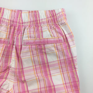 Girls Carter's, check cotton shorts, elasticated waist, GUC, size 2