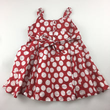 Load image into Gallery viewer, Girls Sprout, lined cotton party dress, red & white spots, GUC, size 1