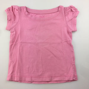 Girls H+T, pink cotton t-shirt / top / tee, GUC, size 1