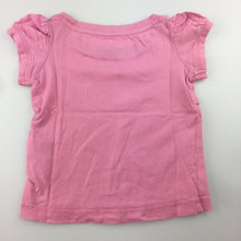 Load image into Gallery viewer, Girls H+T, pink cotton t-shirt / top / tee, GUC, size 1
