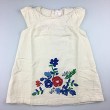 Load image into Gallery viewer, Girls Pumpkin Patch, lined cotton party dress, embroidered flowers, EUC, size 1