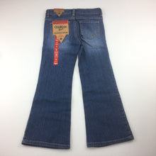 Load image into Gallery viewer, Girls Osh Kosh, boot cut jeans with adjustable waist, NEW, size 5