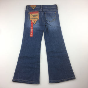 Girls Osh Kosh, boot cut jeans with adjustable waist, NEW, size 5