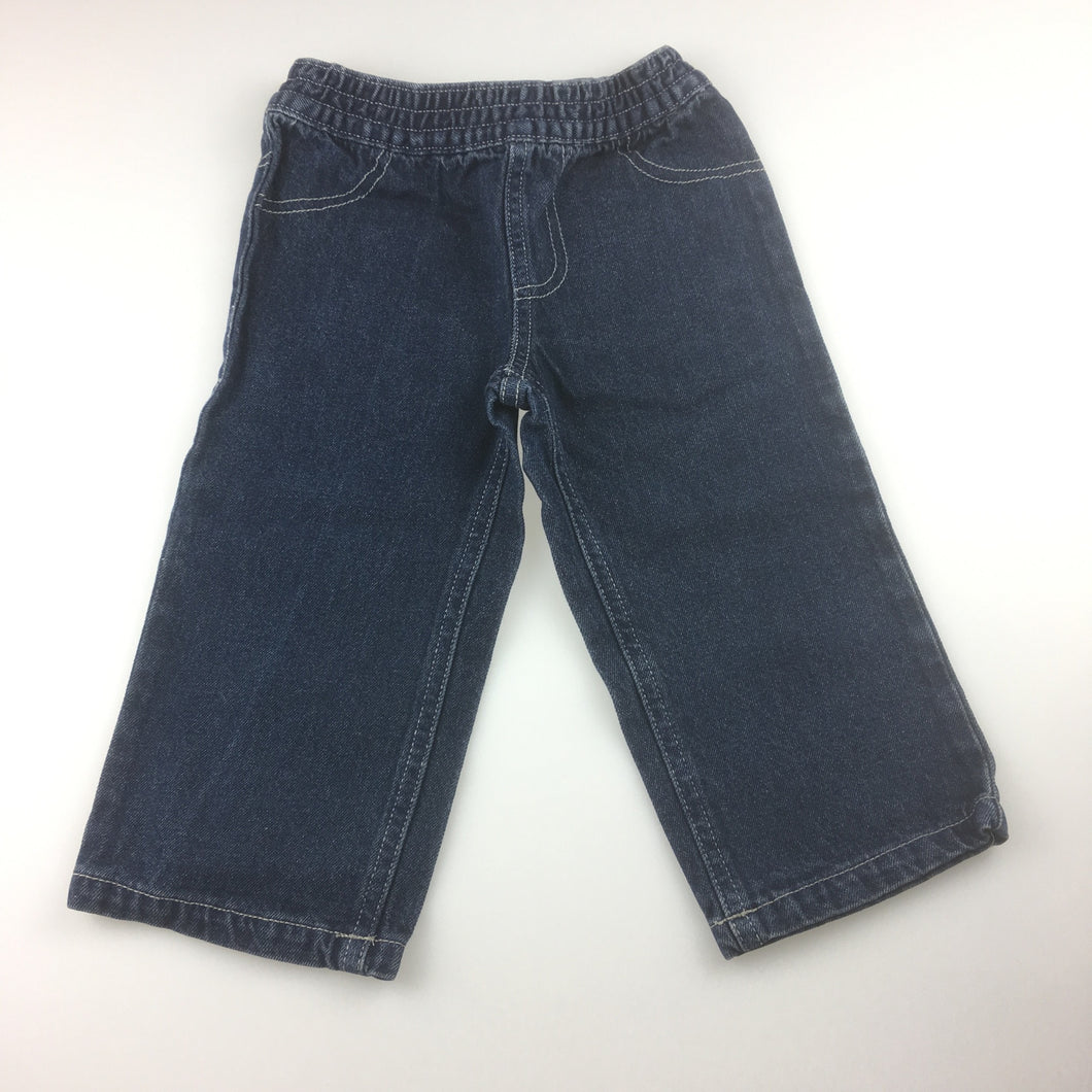Boys h+t, jeans with elasticated waist, EUC, size 1