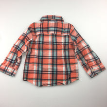 Load image into Gallery viewer, Boys Carter's, long sleeve check shirt with embroidered elephant on pocket, EUC, size 18 months