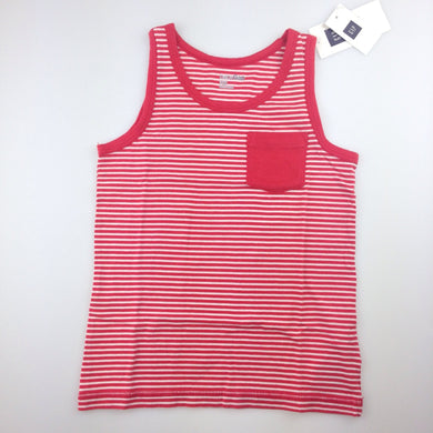 Boys Baby Gap, red and white striped tank with pocket, NEW, size 5