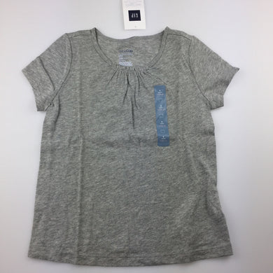 Girls Baby Gap, grey t-shirt, NEW, size 4