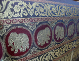 Silk Double Bed / Queen Size Bedspread with Royal Elephant