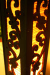 Cherry Blossom Bamboo Carved Wood Art Electric Lantern Lights Table Lamp