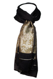Decorish Women's Paisley Floral Lightweight Fashion Silk Scarf Wrap