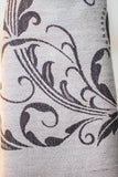 Decorish Women's Elegant Floral Pashmina Scarf -Gray & Black, Gift Idea