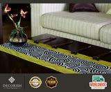 Silk Rectangular Decorative Table Runner / Bed Runner - Asian Spiral