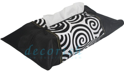Silk Kleenex Tissue box Cover with Velvet Spiral
