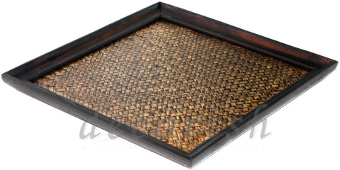 Natural Bamboo and Solid wood Serving Tray