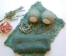 Load image into Gallery viewer, Sage Green Mohair Set / Bundle