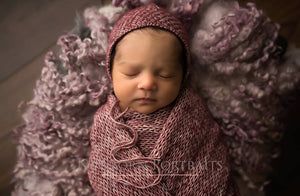 Newborn Cotton Bonnet, GIRL design