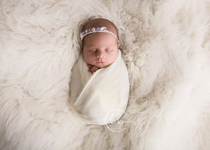 Ivory Cotton Wrap and Bonnet Set