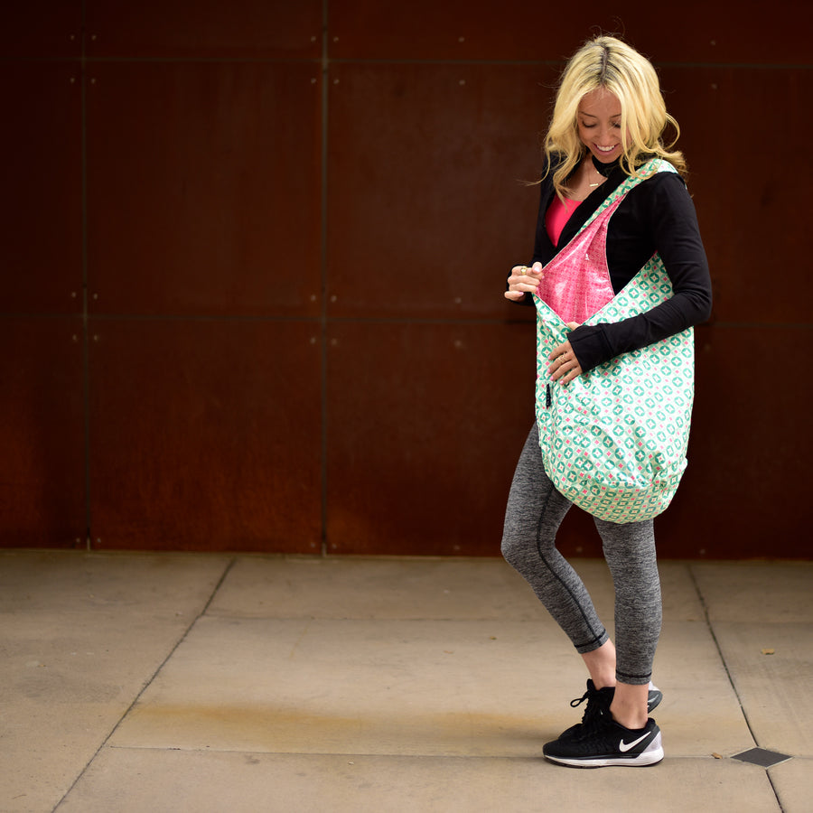 Yoga Sling  BagTurquoise Pink