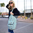 Yoga Sling Bag, Blue Dots