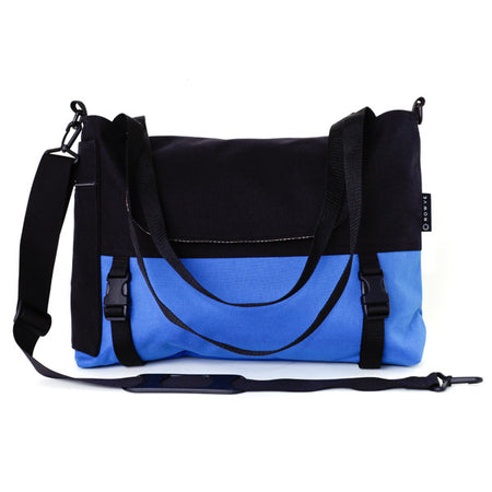 Go Anywhere Bag, Black Blue Canvas