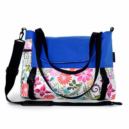 Go Anywhere Bag, Blue Flower
