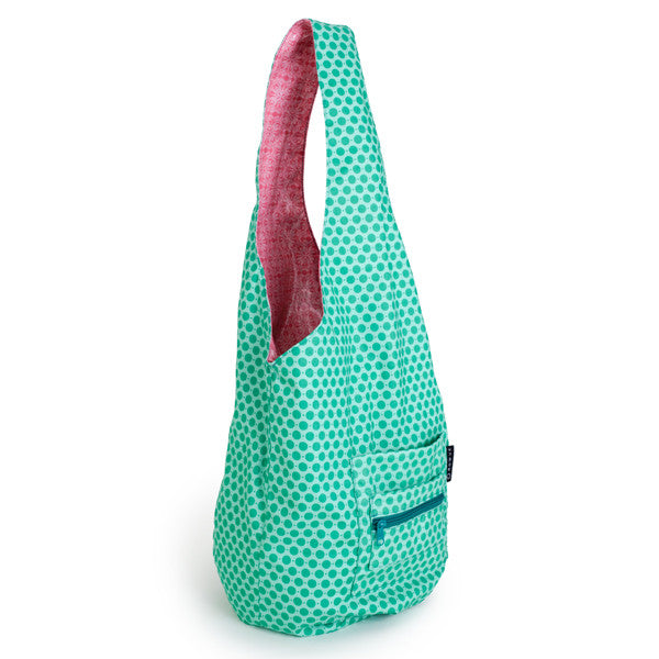 Turquoise sling bag, yoga sling bag, shopping sling bag