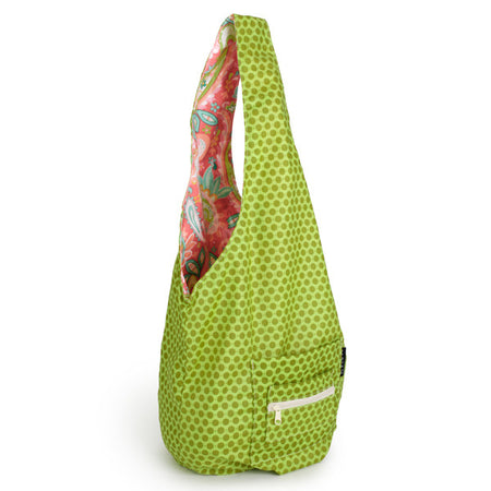 green yoga sling bag, green yoga mat bag, sling bag