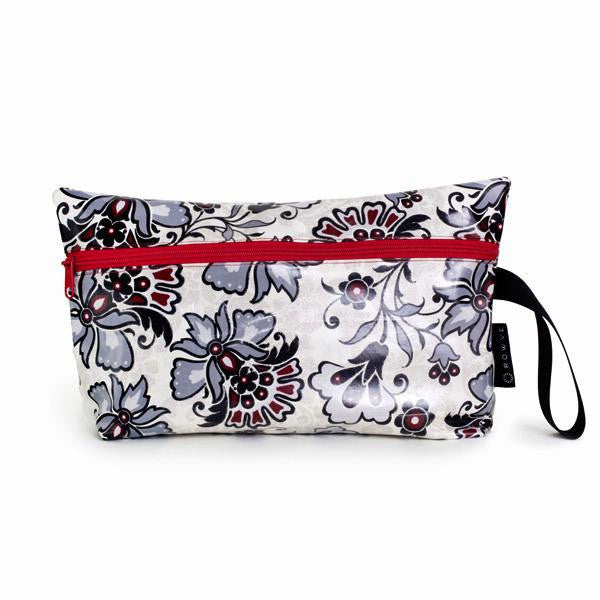 medium hot yoga bag, black flowers yoga bag, swimming bag