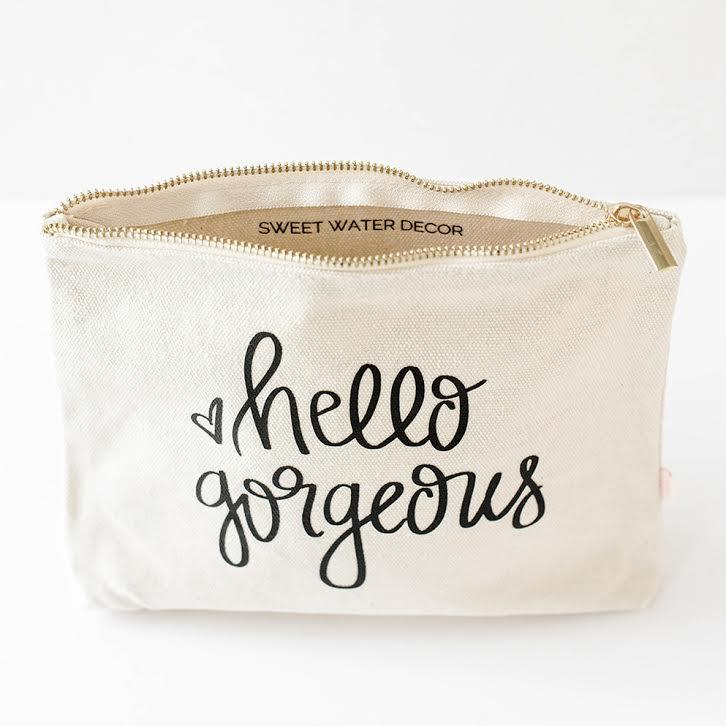 Hello Gorgeous Make up bag - TheArtsyBox