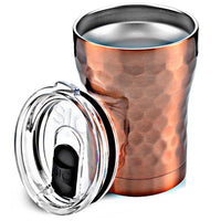 12 oz Hammered Copper Stainless Steel Tumbler - TheArtsyBox