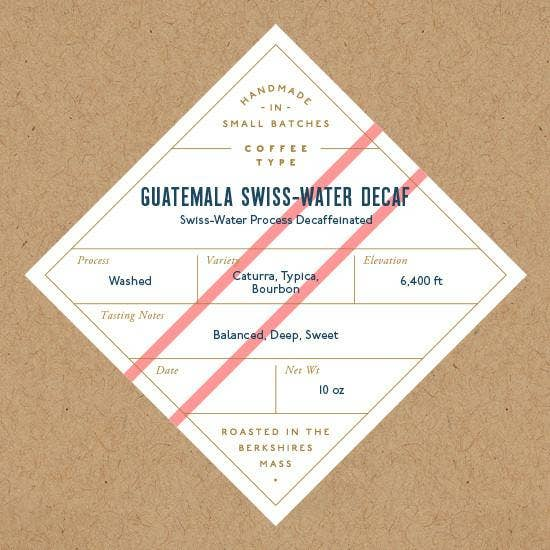 Guatemala Swiss Water Decaf Whole Bean Coffee 10oz