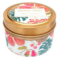 Hibiscus Passion - Hawaiian Aromatherapy Gold Tin Candle