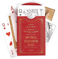Red Deck of Playing Cards - TheArtsyBox